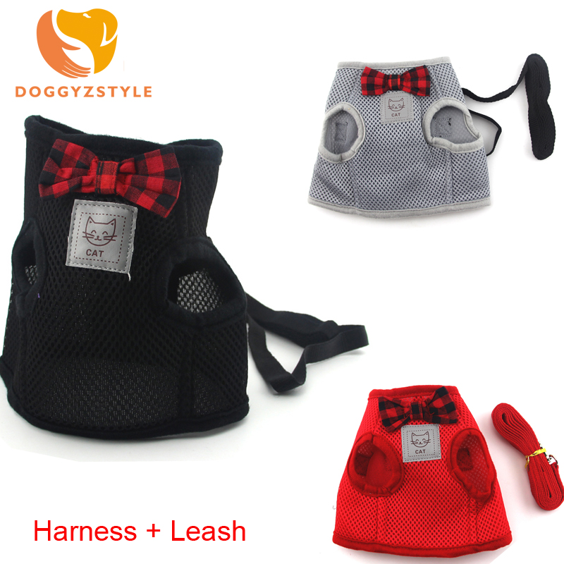 Doggyzstyle New Plaid Pet Dogs Harness Vest Puppy Vest Leash Walking Traction Rope Harness For Small Dog Outdoors Accessories In Short Supply Pet Products