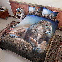 The 3D Lion king printed pattern bedding sets with pillowcases bed linens set comforter for cover quilt / duvet cover set 3 pcs