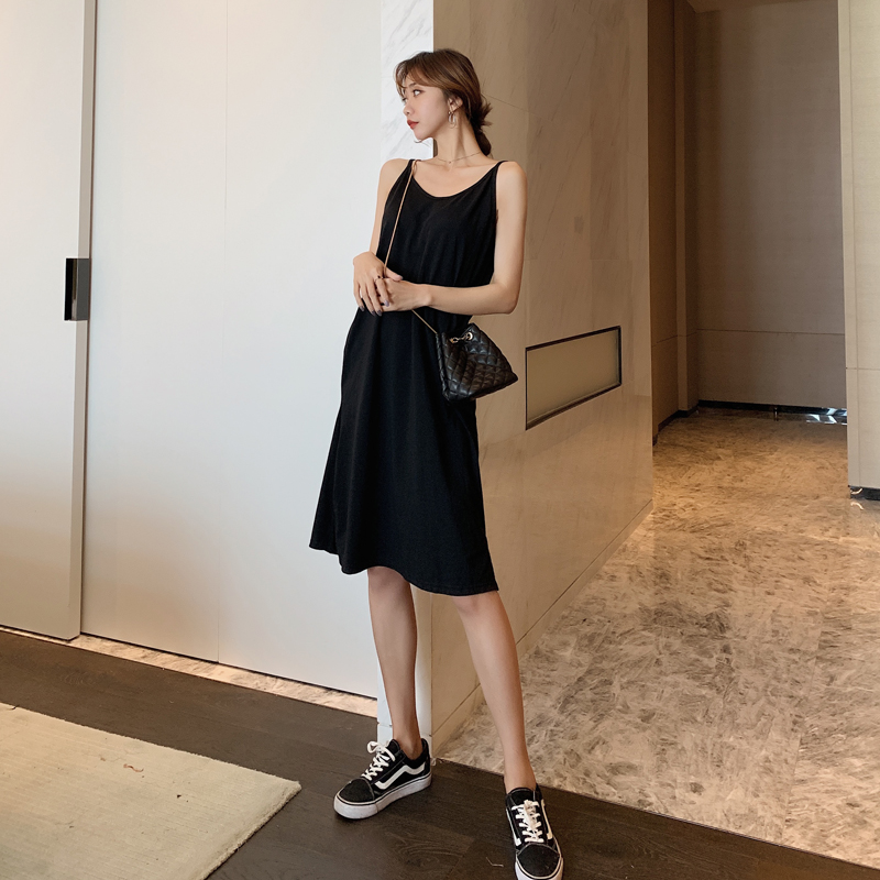 EAD Black Sleeveless Sexy Mini Dress Women Casual Solid Spaghetti Strape Summer Dresses a Line Elegant Sundress Female Vestido