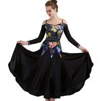 Female Modern Dance Dress Ballroom Dance Competition Dress Waltz/Tango Dance Professional Clothing Standard Dance Dress DQL713