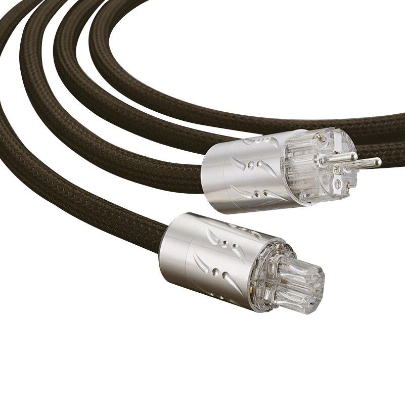 Viborg Salut-fin ETR-1501 16 pcs Multplex Cuivre Schuko Audiophile AC Câble D'alimentation avec Rhodium Plaqué UE Standard VE512R + VF512R Plug