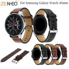Sport Bracelet Leather Watch Band For Samsung Galaxy Watch 46mm Strap for Samsung Gear S3 Frontier/Classic Watchband Replacement silicone sport watchband for gear s3 classic frontier 22mm strap for samsung galaxy watch 46mm band replacement strap bracelet