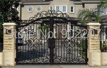 Henchuang personnalis tout dimension de portes en fer forg fer forg porte villa forg porte for Porte villa en fer