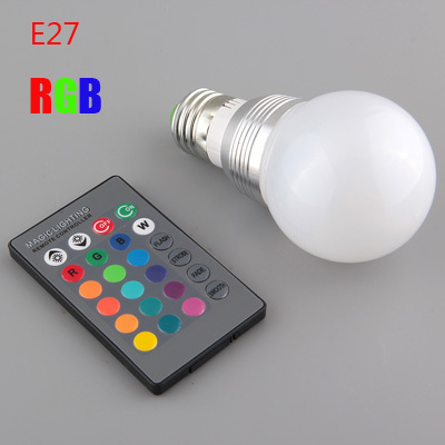 E27 5W RGB LED 110v/220v White  Multicolor Colorful Light 16Color Changing Remote Control Bulb 85-265V Aluminium #LRT15460# sale high quality 10pcs rf antenna catv tv fm coaxial cable pal male jack plug adapter connector mini plug jack