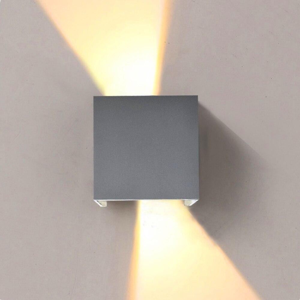 Gry IP65 10 W Étanche En Plein Air intérieur Led Mur Lampe moderne En Aluminium Adjustab 90 ~ 260 V Moderne Éclairage Gard Applique murale ZXX0004