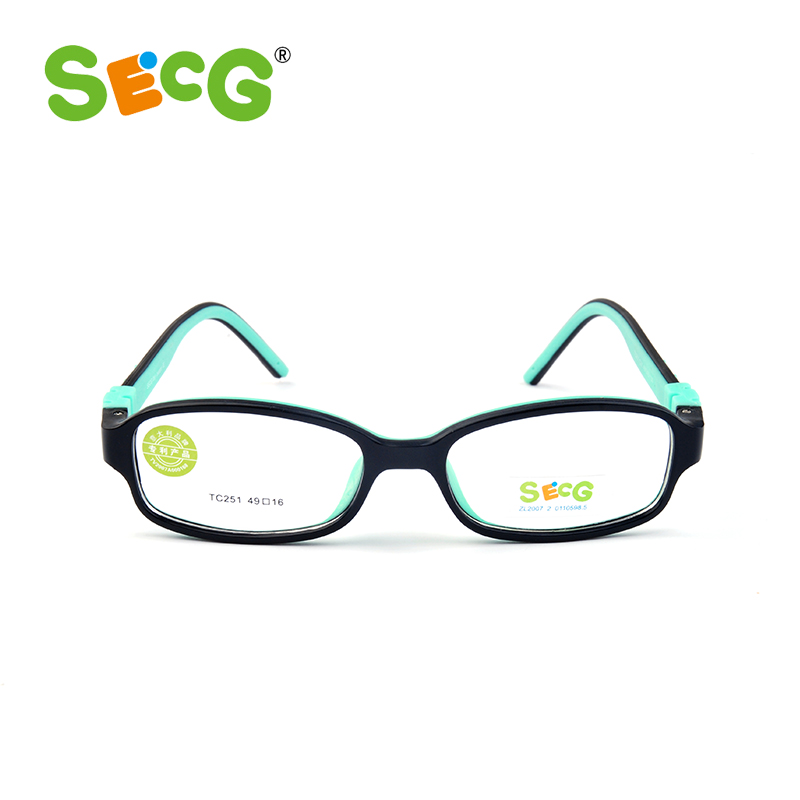 SECG Top Brand Optical Children Glasses Frames TR90 Frame Kids Glasses Clear Transparent  Eyewear For Children Spectacles