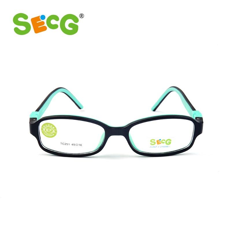 SECG Top Marque Optique Enfants Montures de Lunettes TR90 Cadre Enfants Lunettes Effacer Transparent Lunettes Pour Enfants Lunettes