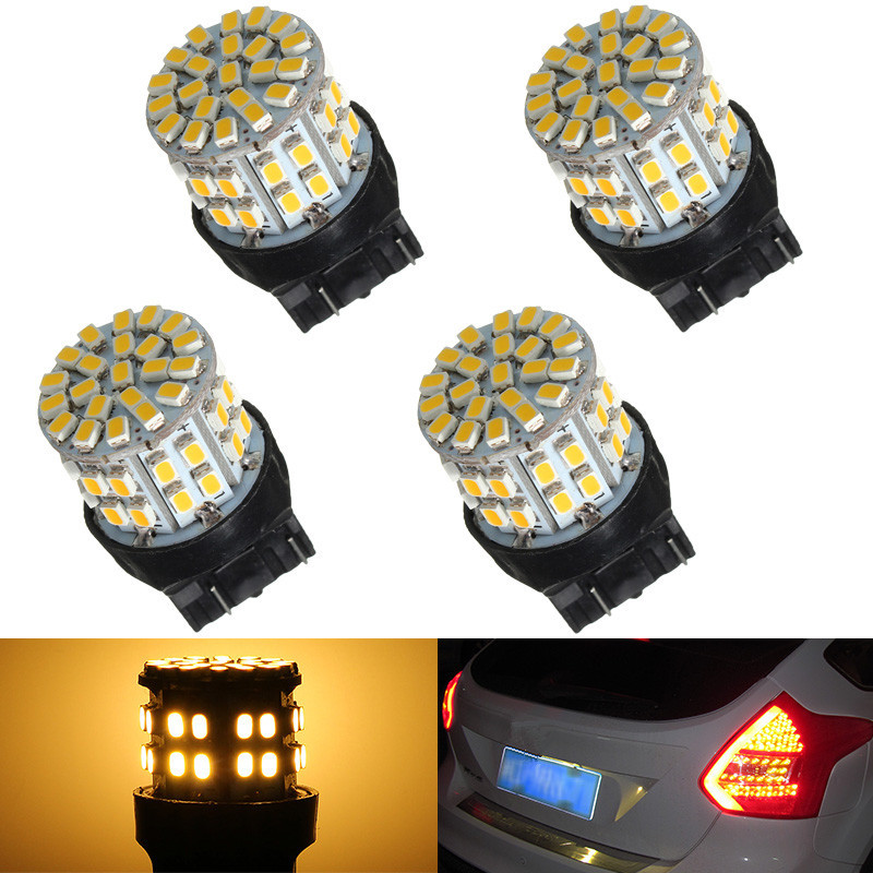 T20 7443 W21/5W 1206 50SMD Auto Car LED Brake Turn Signal Stop Rear Light Bulb Lamp Backup Reserve Lights Pure Warm White DC 12V 1pcs t20 w21 5w 7443 32smd 4014 car led brake light auto warning bulb fog lamp dc12v car styling side turn signal 6000k white
