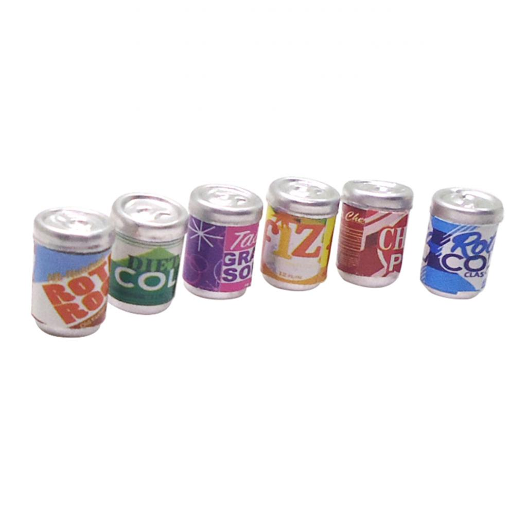 Doll House Accessories 1:12th Miniture 2 Soda Cans