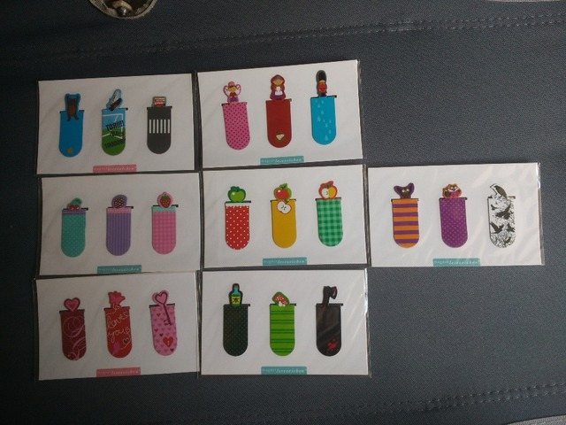 7 different Set designs(3 design per pack) Magnetic bookmark;Open