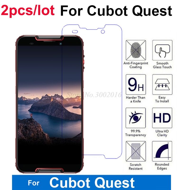 """2PCS CUBOT Quest 5.5"""" Tempered Glass Screen Protector 9H Safety Anti-explosion Glass Protector For CUBOT Quest Smartphone Film(China)"""