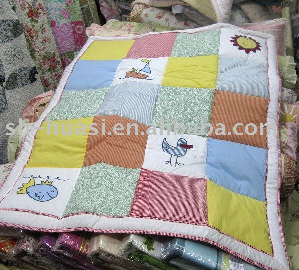 Bright Color Baby Quilts: Infant Quilt/Baby Quilts/Baby Bedding Sets/Cotton Quilts