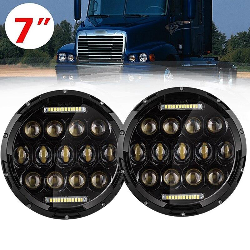 7 inch LED Headlight Conversion Kits DRL For Jeep Wrangler Jk TJ FJ cruiser Hummer Trucks Motorcycle Headlamp (J005-B) 9012 hir2 led headlight bulbs 50w 8000lm fanless auto headlamp conversion kit for toyota chevrolet cadillac buick gmc ford jeep