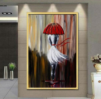 Handmade thick knife high quality Modern Abstract Fine Artwork Canvas Decor Alec Monopoly Banksy arts Bedroom artwork Wall Oil