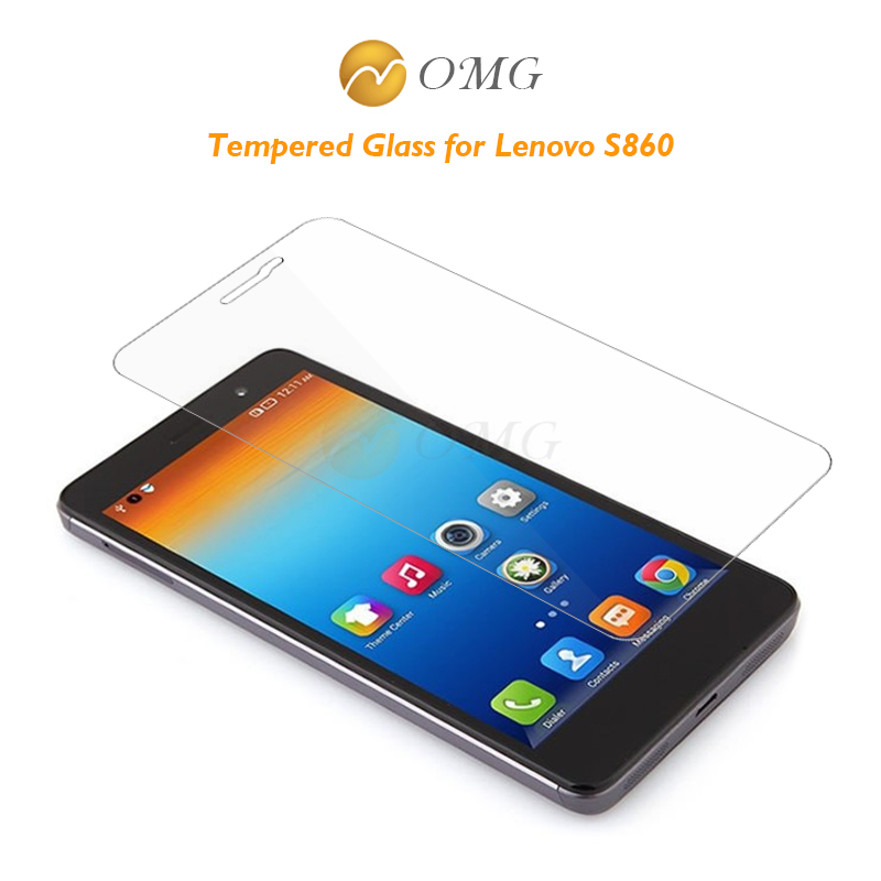 OMG 2.5D 0.3mm For Lenovo S860 S 860 Tempered Glass New Good Quality Protector Screen Film with cleaning tools free shipping