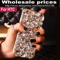 Big diamante rhinestone case capa para htc desire 300 310 320 500 510 516 526 600 601 610 616 620 626 628 630 816 820 825 826 830