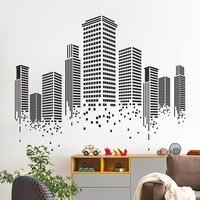 YOYOYU Art Home Decor Urban City Building Wall Decal Vinyl Sticker Graphics Bedroom Living Room Office Decoration WW-506