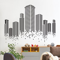 YOYOYU Art Home Decor Urban City Building Wall Decal Vinyl Sticker Graphics Bedroom Living Room Office Decoration WW 506