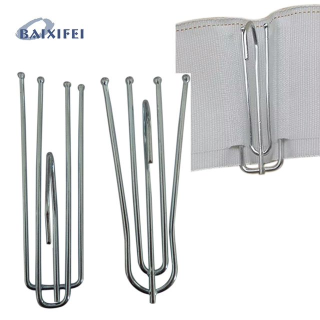 50 Pcs High quality curtains hooks use with tape,Curtain Accessories ...