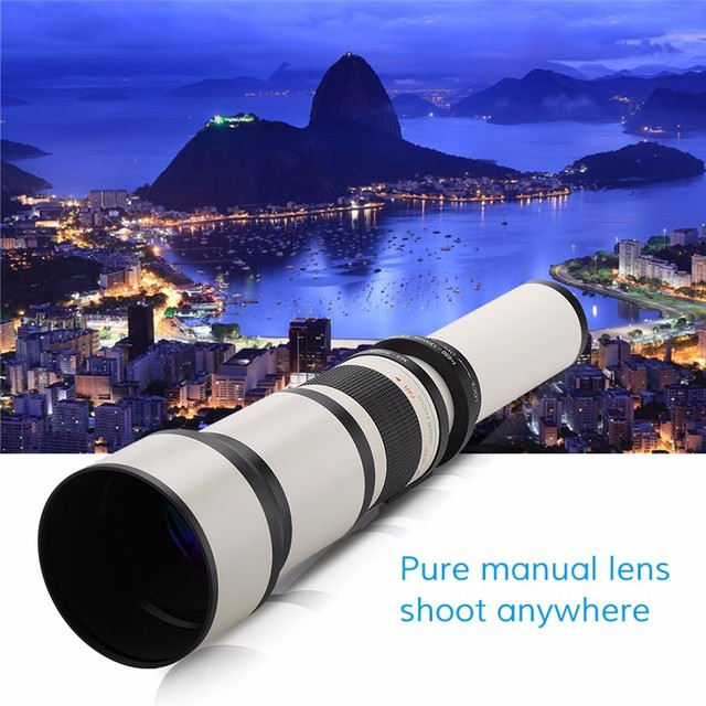 Zoom Camera Lens For extremely close-up shots. Take Photos from a distance 650-1300Mm F8.0-F16 Lenses Can Be Used With Canon Nikon Sony Pentax DSLR Cameras.