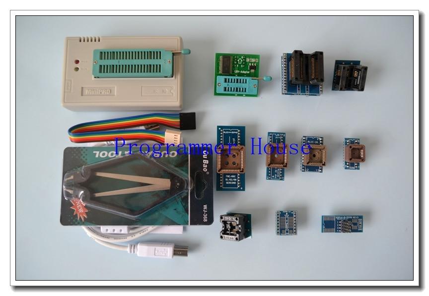 100% original XGECU V7.05 TL866II Plus TL866A nand flash 24 93 25 USB Universal bios eepro AVR programmer+9adapters+PL clip usb tl866cs programmer eprom spi flash avr gal pic 9pcs adapters test clip 25 spi flash support in circuit programming adapter
