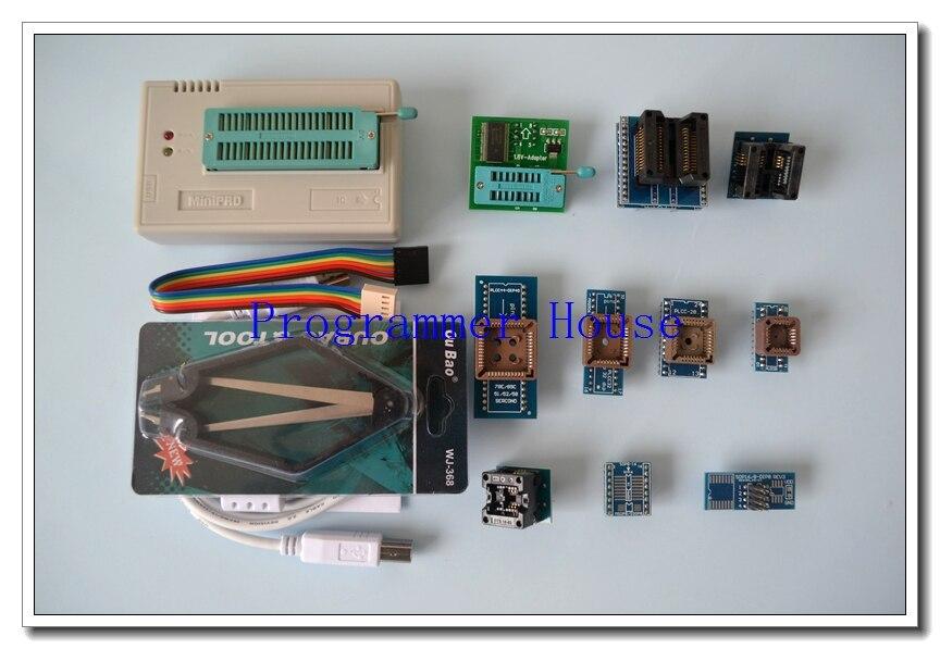 100% original XGECU V8.08 TL866II Plus TL866A nand flash 24 93 25 USB Universal bios eepro AVR programmer+9adapters+PL clip