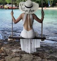 Summer Sundress Long Women White Beach Dress Strapless Long Sleeve Loose Sexy Off Shoulder Lace Boho Cotton Maxi Dress