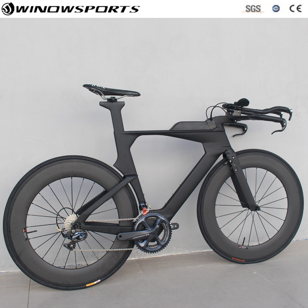 2019 Time Trail Bike TT Carbon Bike Complete Bike 22 Speed With R7000/R8000 Groupset Size 48/51/54 Full Carbon TT Complete Bike