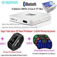 2018 IPTV UNBLOCK UBOX 4 Gen 4 Pro BT Bluetooth Android TV Box 8G 16G No