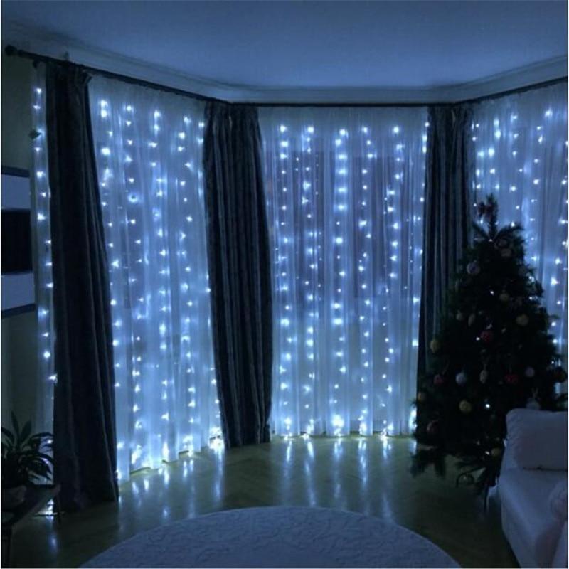 300leds fairy string icicle led curtain light 300 bulbs Outdoor Home - Oświetlenie wakacje - Zdjęcie 2