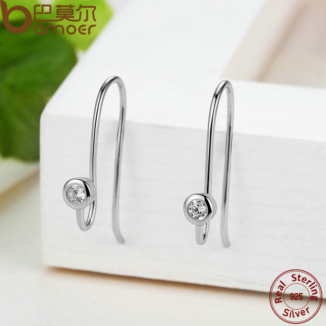 Sterling Silver Post two color Earrings