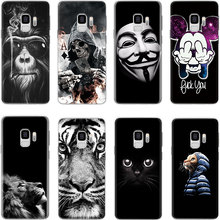 Darkness For Samsung Galaxy A50 A40 A70 A30 A60 A10 S8 S9 S10E Plus A9 A7 2018 J5 A5 2016 2017 M10 M20 M30 Black phone case soft(China)
