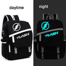 Модная молодежная игры Super Hero Железный флэш-рюкзак школьные сумки для подростка Книга сумка Мстители ноутбук ночь сверкающих рюкзак