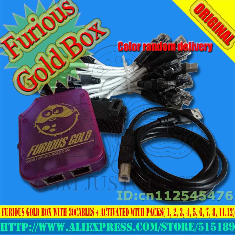 2018 The Newest Original Furious Gold Box 1ST CLASS With 30 Cables + Activated With Packs( 1, 2, 3, 4, 5, 6, 7, 8, 11,12)