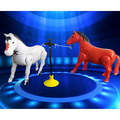 Оптовая 1 Шт. Дети Электрический Лошадь Пони Вращающихся Игрушка Вокруг Куча Развития Подарок Белый Красный цвета Электронные Домашние Животные