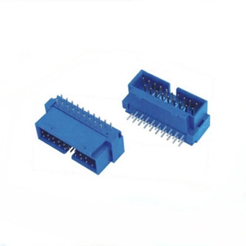 100 шт. USB 3.0 IDC 19PIN штекер 90 градусов DIP