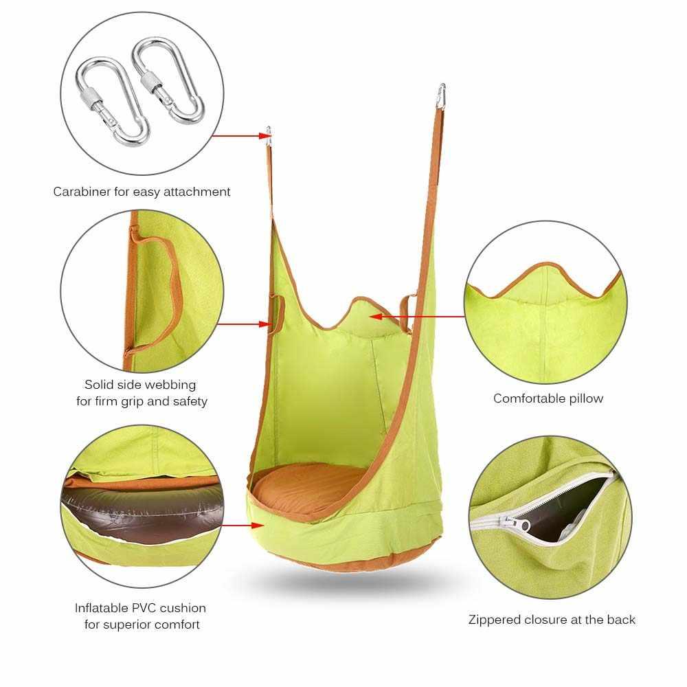Детские Подвесные качели стул детские качели спальный мешок дети Pod подвесное сиденье подвесной, для помещений и улицы стул двойной ремень гамак