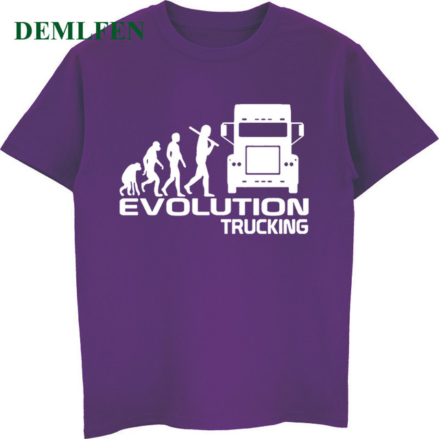 a3052ae97 Brand Clothing Evolution Trucking Truck Driver Cab T-shirt Gift Funny T  Shirt Men Casual Cotton Short Sleeve O-neck T-shirt Tops