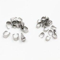 100 adet paslanmaz çelik kolye tutam kefalet klipsler kolye Hooks klipler bağlayıcı takı yapımı için bulgular aksesuarları DIY