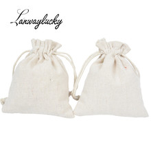 10x12cm Drawstring Gifts Bags 50pcs/lot Cotton Traveling Pouch Storage Bag Wedding Christmas Party Favors Packing Sack Pouches