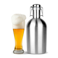 64 Voor oz 2L Bier Growler Swing Hip Top Rvs Ballon Final Bierfles Voor Bar Accessoires