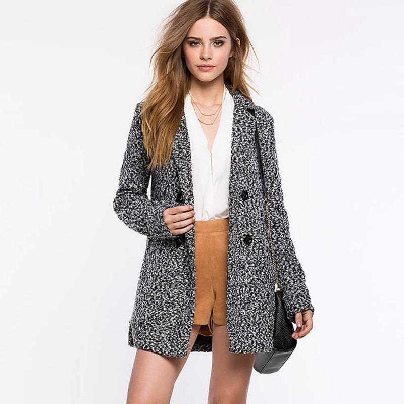 Double breasted lapel wool coat 5