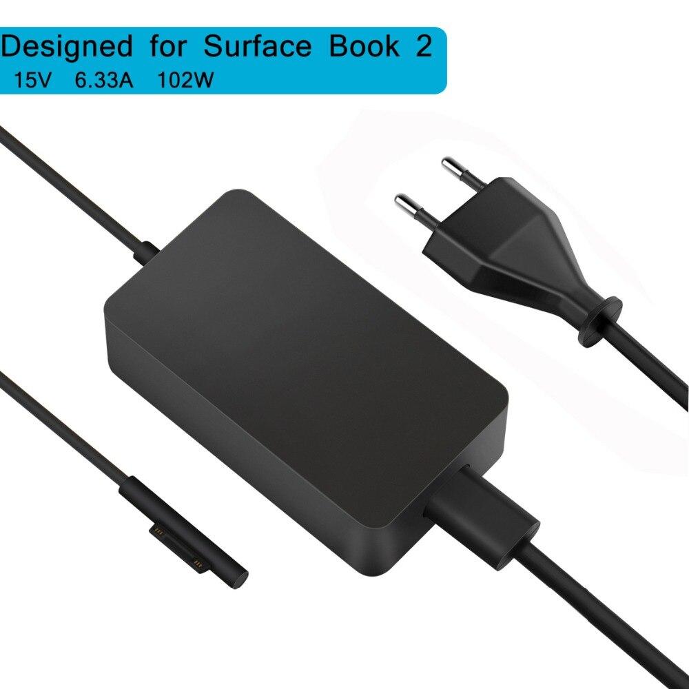 SuperNight DC 15 v 6.33A 102 w Alimentation Adaptateur AC USB de Commutation Chargeur pour Microsoft Surface Livre 2 Tablet ordinateur portable US Plug UE