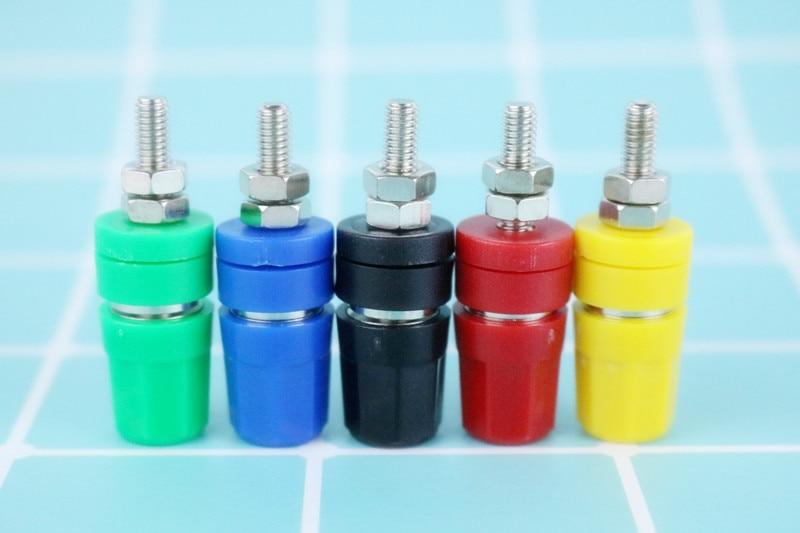 5pcS M5*48 24A 5 Color Copper Binding Posts for Power terminal Banana plug Probe