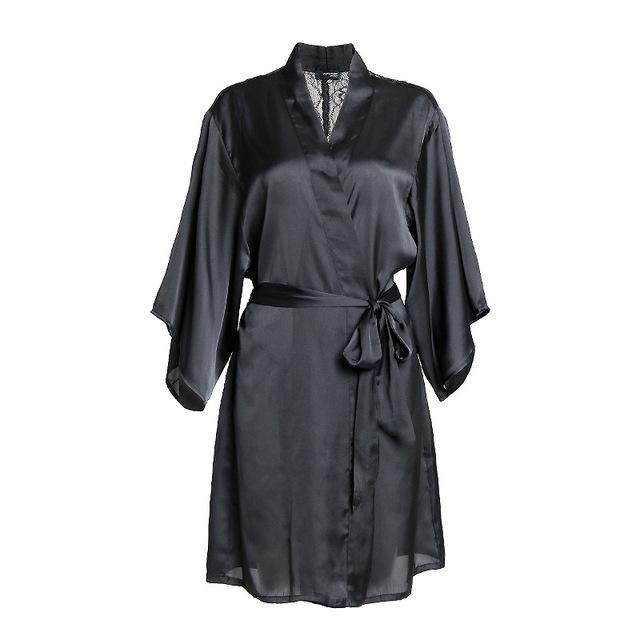 Yomrzl A374 Nova chegada da primavera e no verão das mulheres robe de renda preta sleepwear uma peça sexy roupa interior sexy lingeries