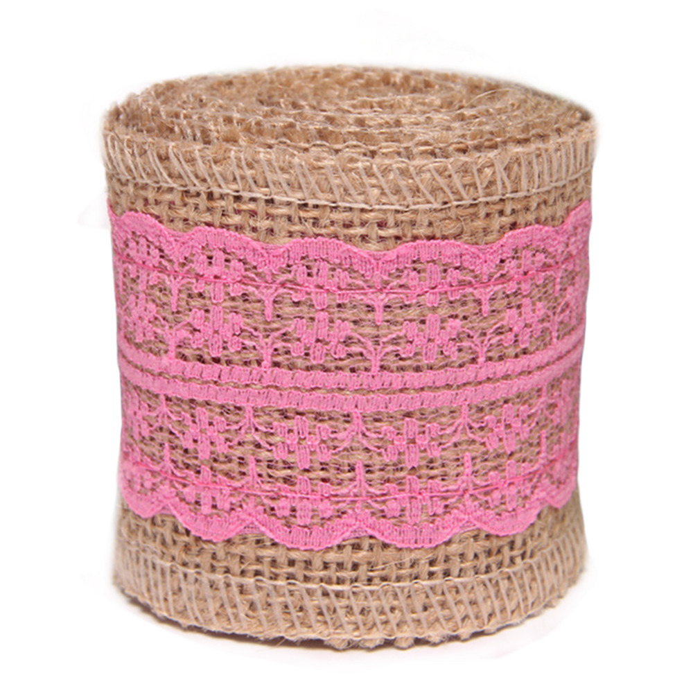 Fashion Natural Jute Burlap Hessian Ribbon Lace Crochet Trims Tape ...