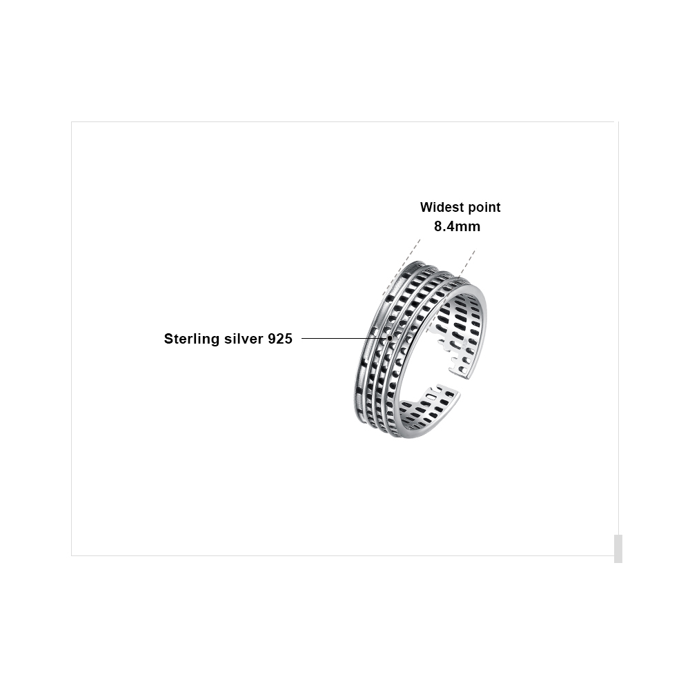 Image 5 - JewelryPalace Roman Colosseum Rings 925 Sterling Silver Rings for