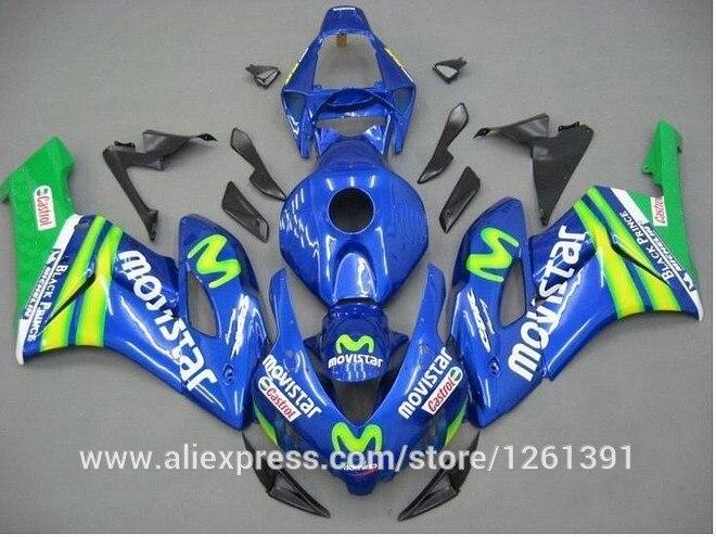 OEM_Qulaity впрыска Обтекатели для Honda CBR1000RR 04 05 CBR1000 2004 2005 CBR 1000RR 04 05 синий зеленый наборы обтекателей# S5R66A