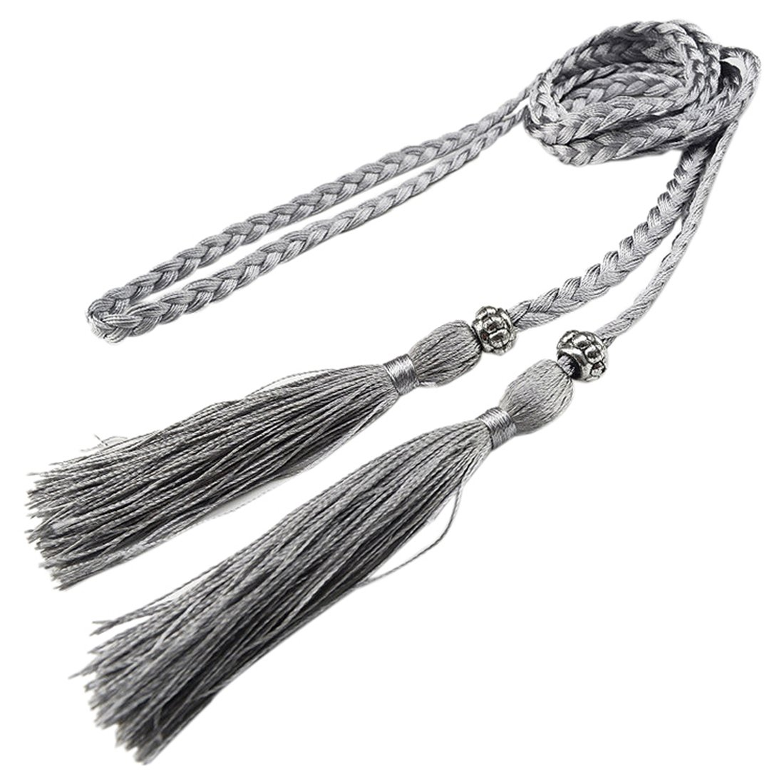 Woven Tassel Belt Knot Decorated Waist Chain Waist Rope Silver