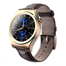 X10 Gold Smart watch Full circle Bluetooth Android Heart rate monitor Real time temperature Intelligent step Altitude instrument